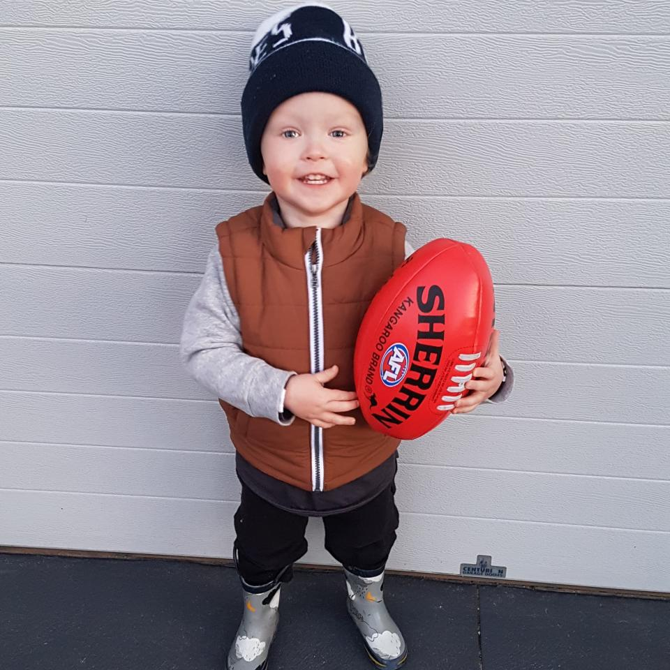 Noah Kelley, a huge footy fan, unexpectedly passed away in his sleep.Source: Supplied