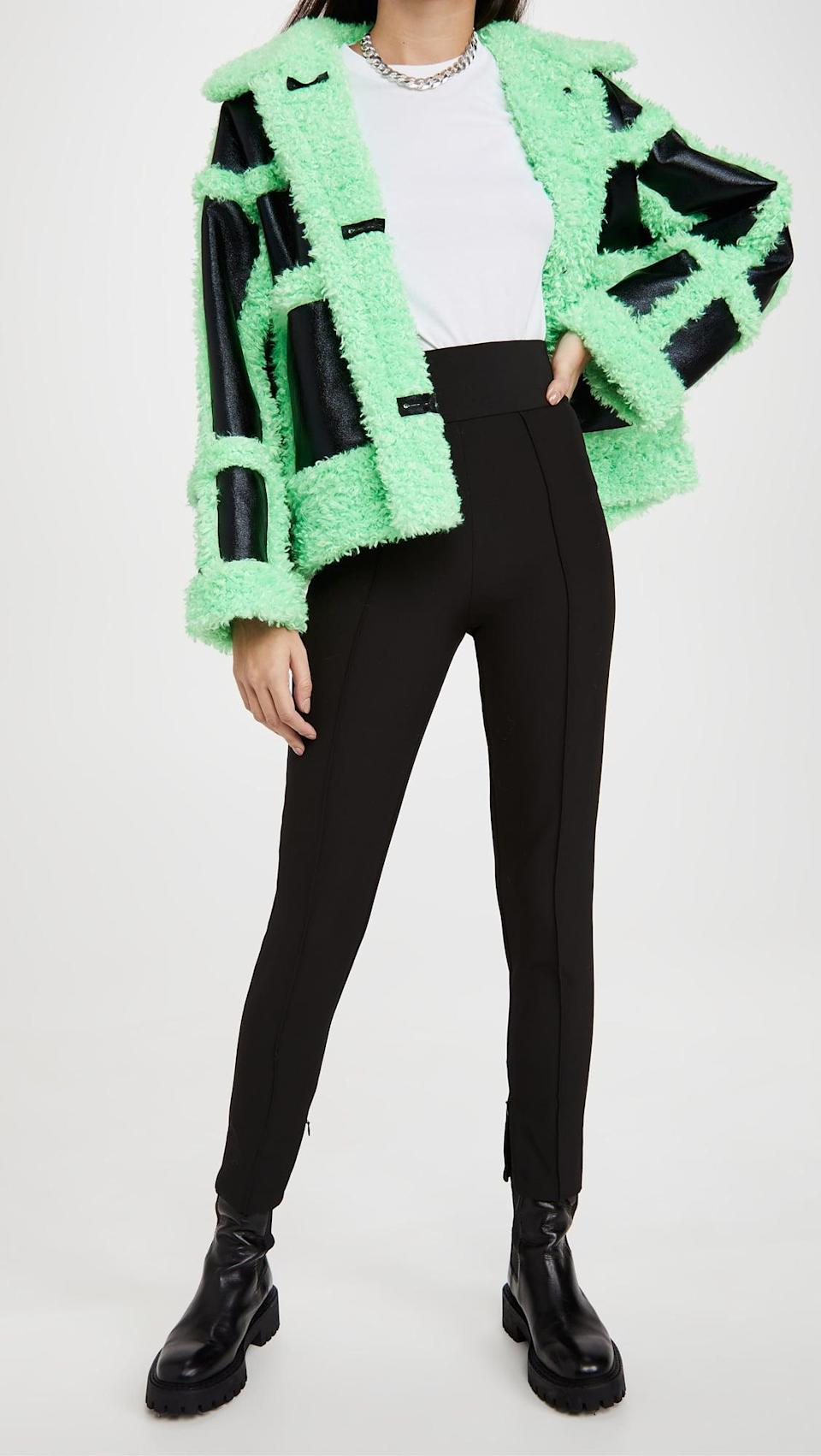 <p>Leos like to be the center of attention, and no one will miss them in this <span>Stand Studio Fay Jacket</span> ($530).</p>