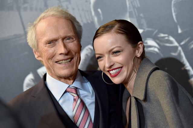 Clint Eastwood and Francesca Eastwood attend the premiere of <em>The 15:17 to Paris</em> at Warner Bros. Studios on Feb. 5, 2018. (Photo: Axelle/Bauer-Griffin/FilmMagic)