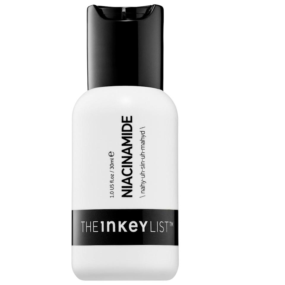 """<p><strong>The INKEY List</strong></p><p>sephora.com</p><p><strong>$6.99</strong></p><p><a href=""""https://go.redirectingat.com?id=74968X1596630&url=https%3A%2F%2Fwww.sephora.com%2Fproduct%2Fniacinamide-P446942&sref=https%3A%2F%2Fwww.prevention.com%2Fbeauty%2Fskin-care%2Fg34339161%2Fbest-niacinamide-serums%2F"""" rel=""""nofollow noopener"""" target=""""_blank"""" data-ylk=""""slk:SHOP NOW"""" class=""""link rapid-noclick-resp"""">SHOP NOW</a></p><p>With 10% niacinamide, this well-priced and potent serum is a fan favorite. Not only is niacinamide added to reduce oil production to fight blemishes, but it also the relieves redness that comes with acne. <strong>Hyaluronic acid hydrates without contributing to greasiness.</strong></p>"""