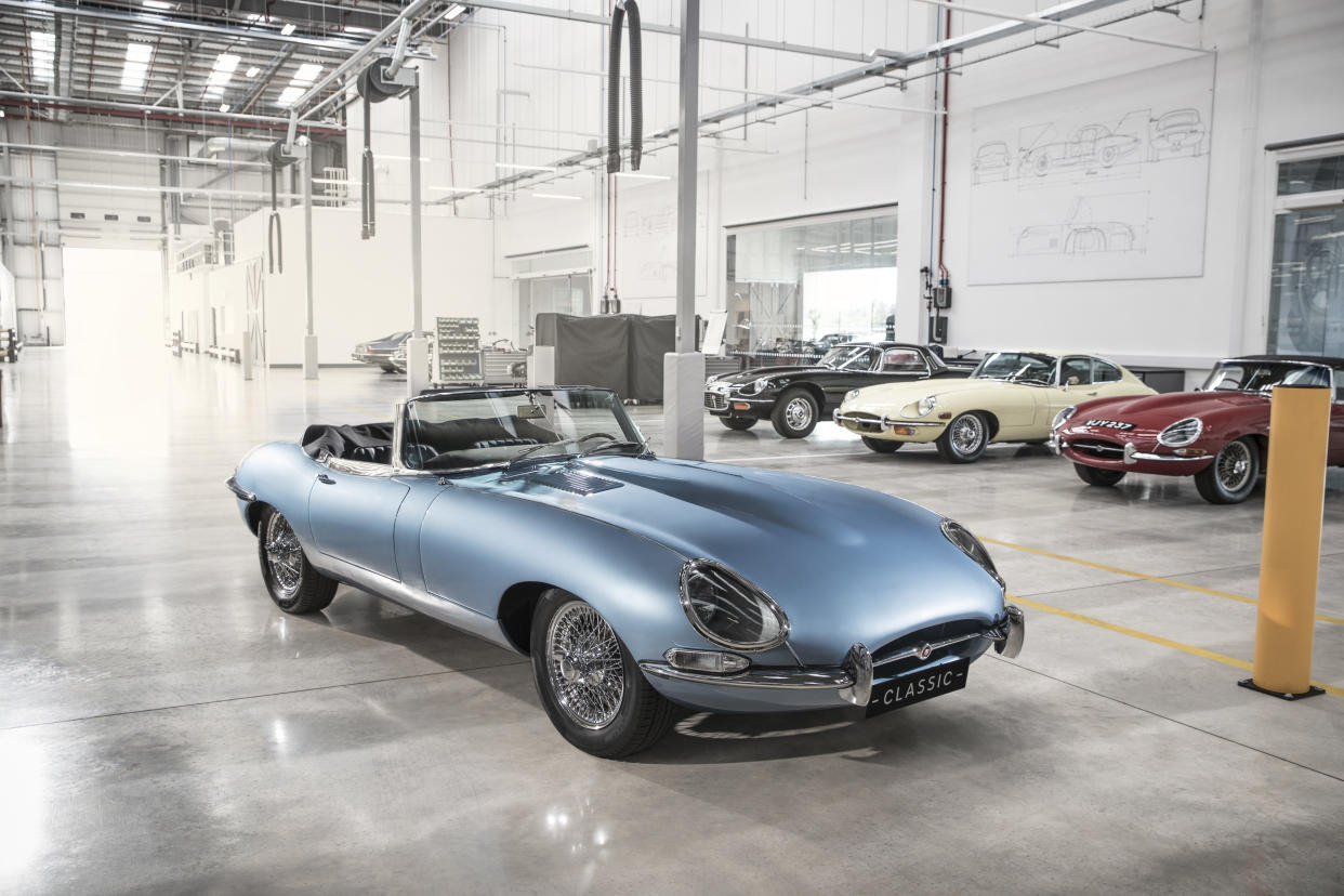 The E-Type Zero is an all-electric take on a classic