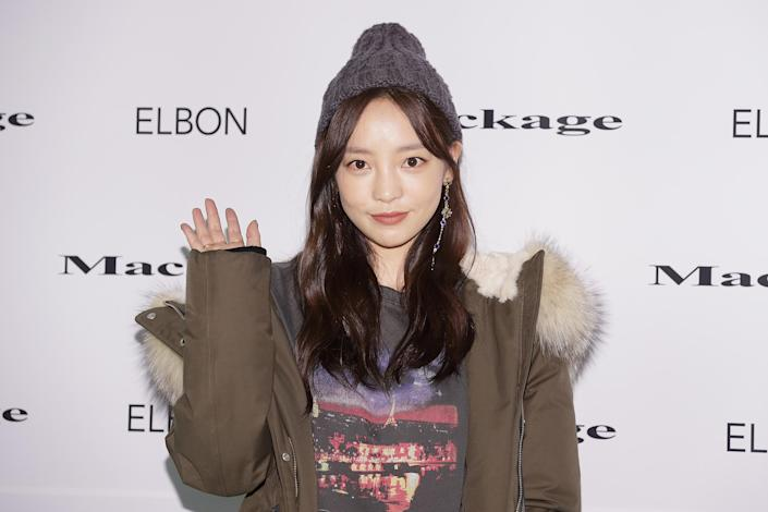 """SEOUL, SOUTH KOREA - OCTOBER 26: Former member of South Korean girl group KARA, Hara attends the """"Mackage"""" 2017 FW Collection photocall on October 26, 2017 in Seoul, South Korea. (Photo by Han Myung-Gu/WireImage)"""