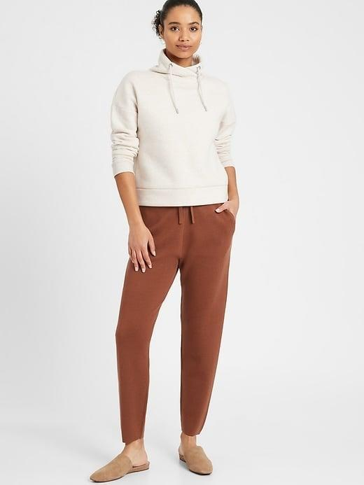 <p>You'll want to wear the warm <span>Banana Republic Washable Merino Sweater Jogger</span> ($68, originally $99) everyday so it's a good thing it can go right in the machine. </p>