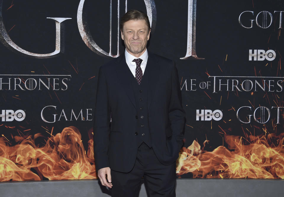 """Sean Bean attends HBO's """"Game of Thrones"""" final season premiere at Radio City Music Hall on Wednesday, April 3, 2019, in New York. (Photo by Evan Agostini/Invision/AP)"""