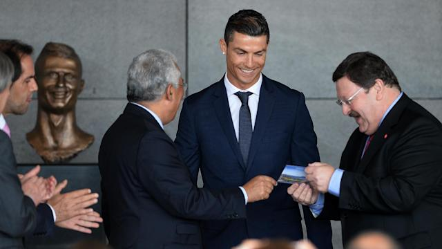 Cristiano Ronaldo has spoken of his pride after Madeira Airport was renamed in his honour at a ceremony that also featured Batman.