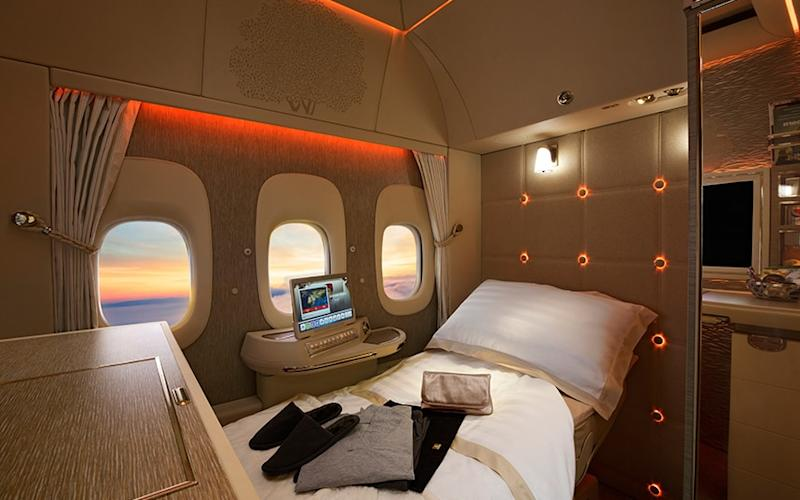 Emirates' latest first class cabins middle seat suites that feature the first-ever