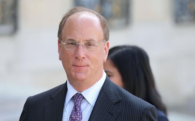 Chairman and chief executive of BlackRock Larry Fink. Photo: Ludovic Marin/AFP via Getty Images