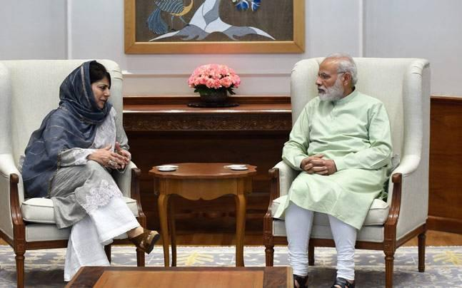 What is the Vajpayee doctrine on Kashmir that Mehbooba Mufti wants PM Narendra Modi to follow?
