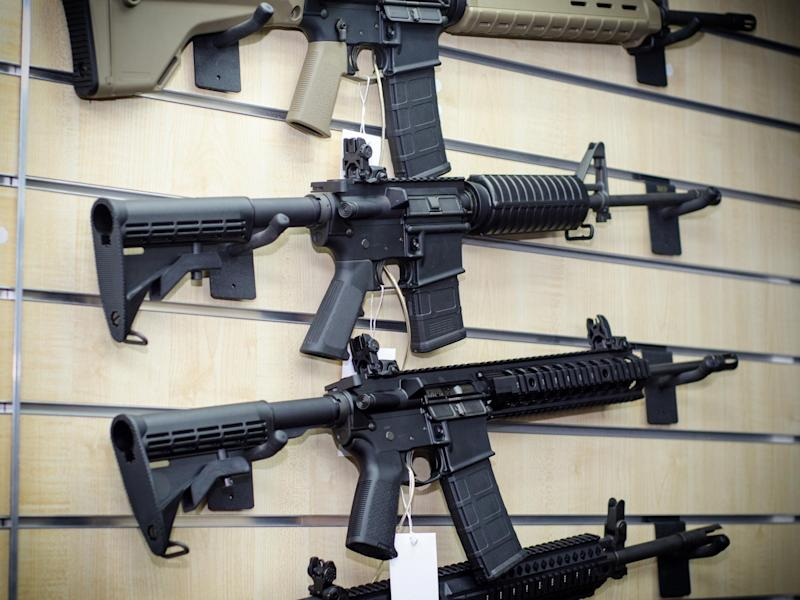 Gun wall rack with rifles - Getty Images/iStockphoto: Getty Images/iStockphoto
