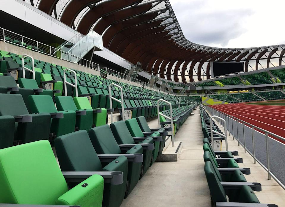 <p>All the seats in the new stadium are cushioned, with plenty of legroom, a feature that was lacking in the historic version of Hayward. ADA seating is available throughout the stadium. </p>