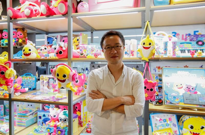 Ryan Lee, the co-founder and CFO of SmartStudy, poses for photographs at the company's office in Seoul
