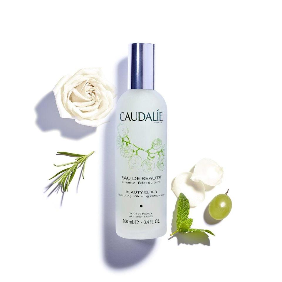 """<p>""""This <span>Caudalie Beauty Elixir</span> ($49) was a lifesaver during the summer, and I'm definitely bringing it into the cold seasons. It's a gentle mist that is great for setting your makeup or just refreshing your face."""" - SJ</p>"""