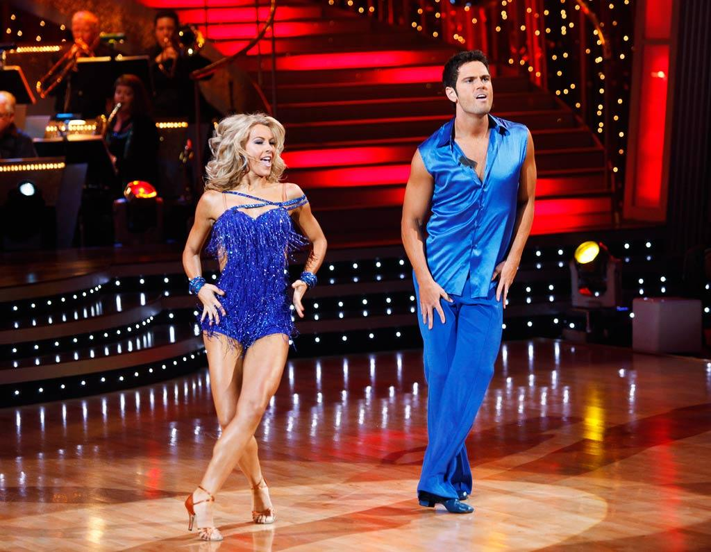 """Chuck Wicks and Julianne Hough perform the Cha-Cha-Cha to """"I'm Outta Love"""" by Anastacia on """"Dancing with the Stars."""""""