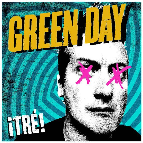 "This undated publicity photo provided by Warner Bros. Records shows Green Day's album cover for ""¡TRE!,"" part of a trilogy album release. (AP Photo/Warner Bros Records)"