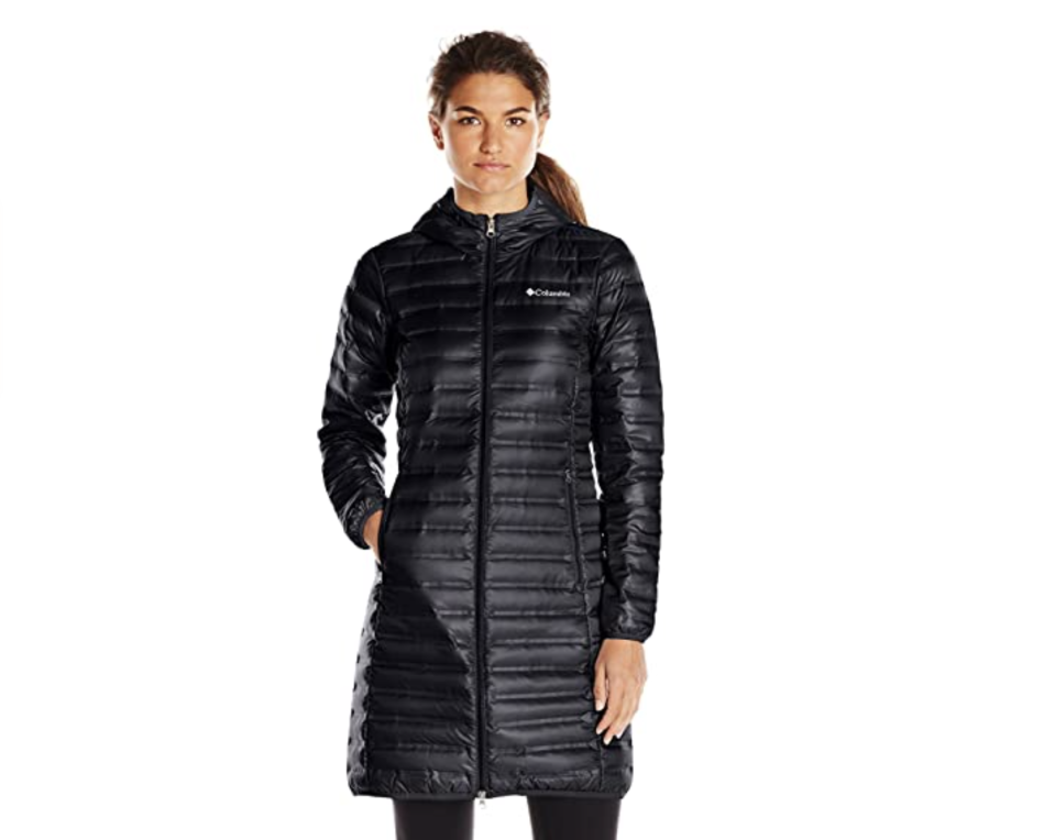 Columbia Women's Flash Forward Long Down Jacket, Nocturnal, X-Large. Foto: amazon.com.mx