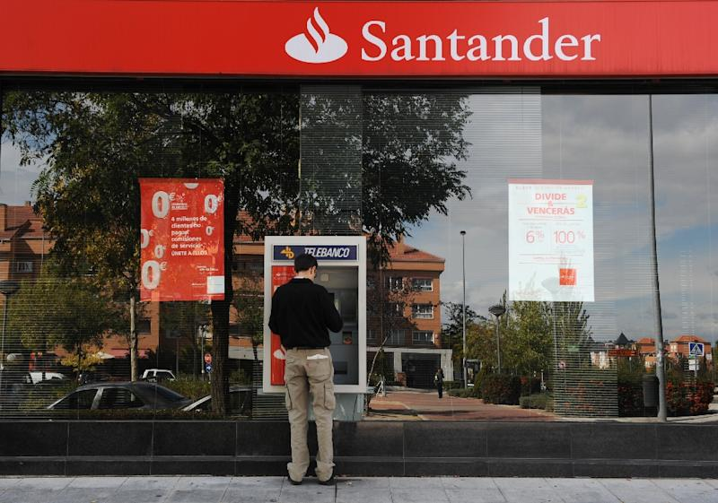 The eurozone's biggest bank, Spain's Santander reported a net profit of 1.72 billion euros ($1.87 billion) in the first three months of the year, up from 1.3 billion euros during the same period last year
