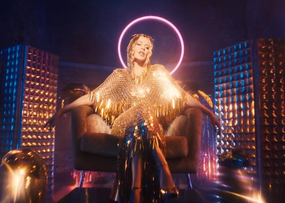 Kylie Minogue no clipe de