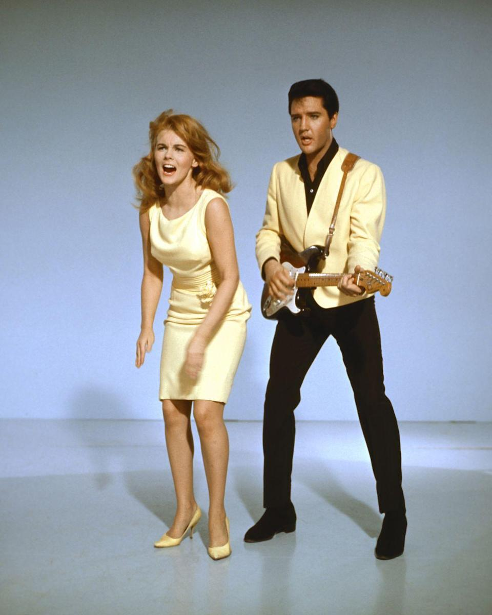 """<p><em>Viva Las Vegas </em>ended up being the rock star's highest-grossing film, while the soundtrack was a hit too, <a href=""""https://www.graceland.com/1962---1965"""" rel=""""nofollow noopener"""" target=""""_blank"""" data-ylk=""""slk:beating out Beatlemania's &quot;A Hard Day's Night.&quot;"""" class=""""link rapid-noclick-resp"""">beating out Beatlemania's """"A Hard Day's Night.""""</a> Presley also managed to negotiate a contract with MGM where he <a href=""""https://www.graceland.com/1962---1965"""" rel=""""nofollow noopener"""" target=""""_blank"""" data-ylk=""""slk:earned $1 million per film"""" class=""""link rapid-noclick-resp"""">earned $1 million per film</a> in 1964.</p>"""