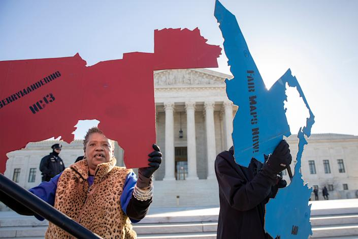 Activists protest gerrymandering.   (Photo: ASSOCIATED PRESS)