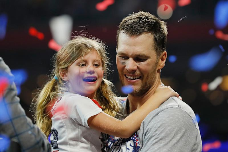 Tom Brady jumped off a cliff with his 6-year-old daughter Vivian during a family vacation and people have feelings about that. (Photo: Getty Images)