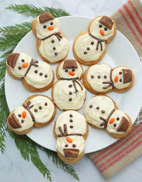 PHOTO: Eggnog frosted chai snickerdoodle snowmen cookies from Half Baked Harvest. (ABC News)