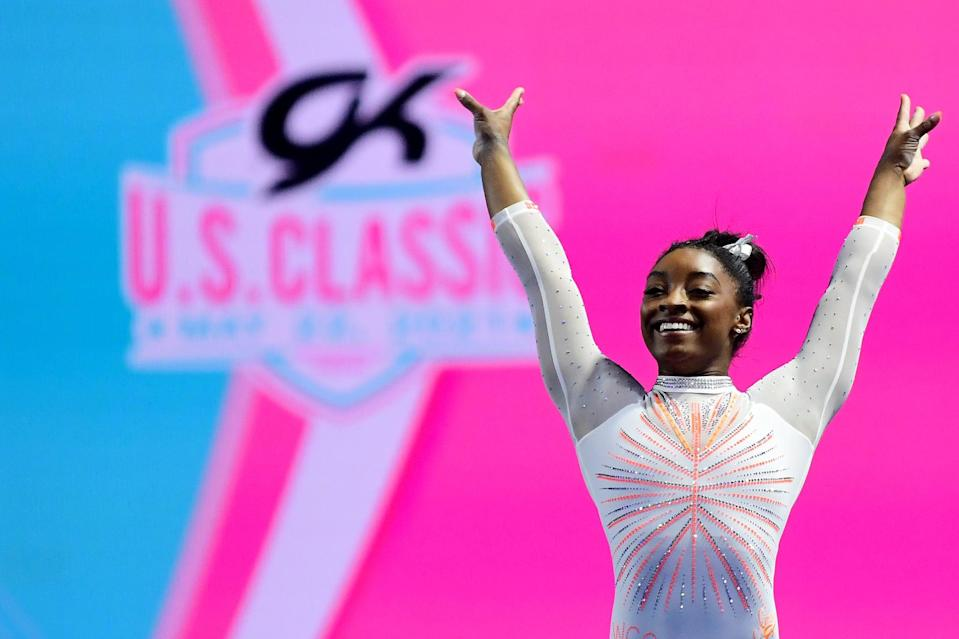 """<ul> <li><strong>On <a href=""""http://www.glamour.com/story/simone-biles-finds-her-balance"""" class=""""link rapid-noclick-resp"""" rel=""""nofollow noopener"""" target=""""_blank"""" data-ylk=""""slk:always finding joy"""">always finding joy</a>:</strong> """"At the end of the day, we train for so long to compete for two, three minutes total. It's like, Where's the fun in that? If you're not having fun, it's not worth it.""""</li> <li><strong>On <a href=""""http://time.com/4352599/simone-biles-next-generation-leaders"""" class=""""link rapid-noclick-resp"""" rel=""""nofollow noopener"""" target=""""_blank"""" data-ylk=""""slk:enjoying the moment"""">enjoying the moment</a>:</strong> """"I think I'm teaching my teammates that they can still be successful while having fun, and enjoying the moment rather than being a stone cold brick. You <em>can</em> have fun and do well. Just let loose a bit.""""</li> <li><strong>On <a href=""""http://www.usatoday.com/story/sports/olympics/rio-2016/2016/06/02/simone-biles-expectations-rio/85298782/"""" class=""""link rapid-noclick-resp"""" rel=""""nofollow noopener"""" target=""""_blank"""" data-ylk=""""slk:what success means to her"""">what success means to her</a>:</strong> """"A successful competition for me is always going out there and putting 100 percent into whatever I'm doing. It's not always winning. People, I think, mistake that it's just winning. Sometimes it could be, but for me it's hitting the best sets I can, gaining confidence and having a good time and having fun.""""</li> <li><strong>On <a href=""""http://time.com/4352599/simone-biles-next-generation-leaders"""" class=""""link rapid-noclick-resp"""" rel=""""nofollow noopener"""" target=""""_blank"""" data-ylk=""""slk:her love of performing"""">her love of performing</a>:</strong> """"I love competing. Most athletes get intimidated once they see how many fans are out there, but it almost calms me down in a way because I think of it as a fun way to show off what I've been working on.""""</li> </ul>"""
