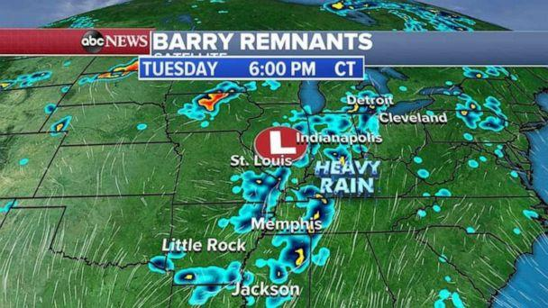 PHOTO: The Midwest is looking at more rain on Tuesday night. (ABC News)