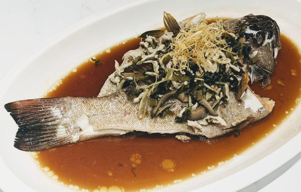 Ancient-style Steamed Red Grouper