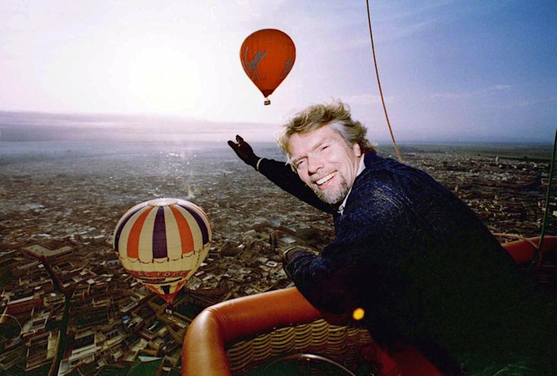 Virgin has been synonymous with hot air ballooning since adventurer Sir Richard Branson became the first to fly a balloon across the Atlantic in 1987.