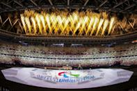 There was a celebratory mood as 162 Paralympic teams enjoyed their long-awaited moment in the global spotlight