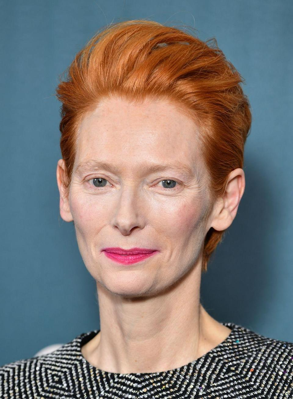 <p>Go bright and bold Tilda Swinton style with a zingy, block copper shade.</p>