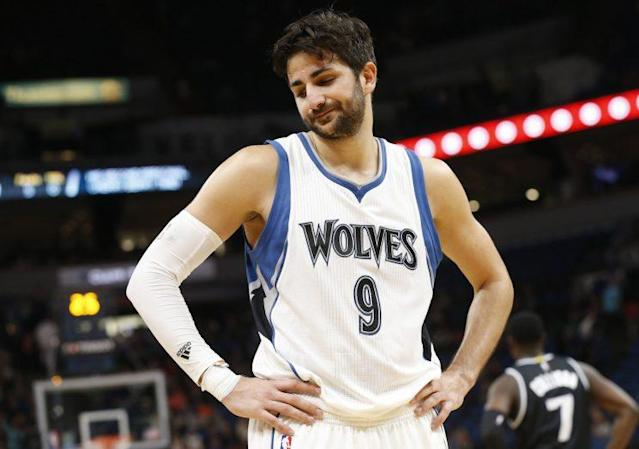 "<a class=""link rapid-noclick-resp"" href=""/nba/players/4610/"" data-ylk=""slk:Ricky Rubio"">Ricky Rubio</a> played six seasons with Minnesota. (AP)"