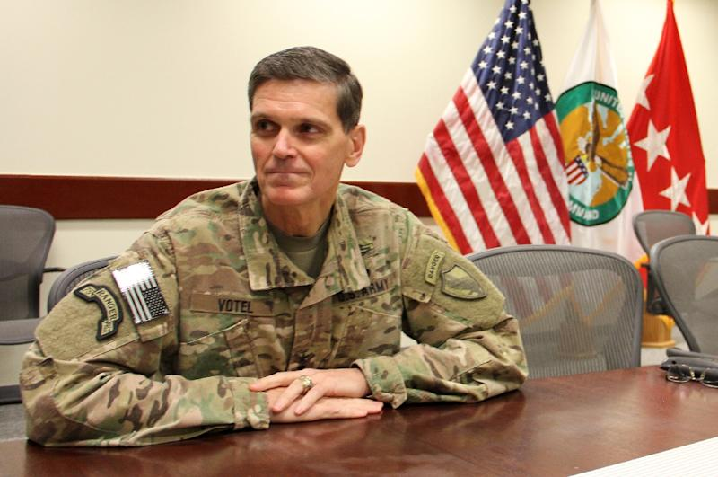 General Joseph Votel, who heads US Central Command, told the Senate Armed Forces Committee he is currently working on a new strategy to break the Afghanistan war out of a stalemate (AFP Photo/Thomas WATKINS)