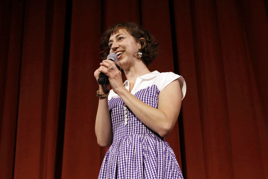 "Cast member Kristen Schaal performs during ""Bob's Burgers Live!""  at the WIlshire Ebell Theatre on Tuesday, May 7 in Los Angeles, CA."