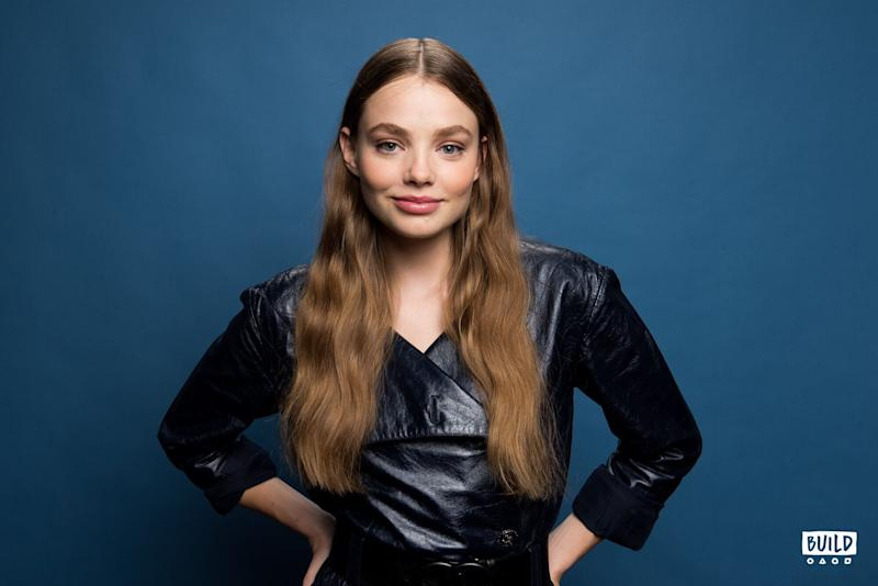 Kristine Froseth visits Build Studio on Sept. 16, 2019. Photo by Mike Pont. (Photo: Mike Pont)