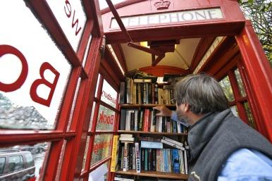 Phone box in use