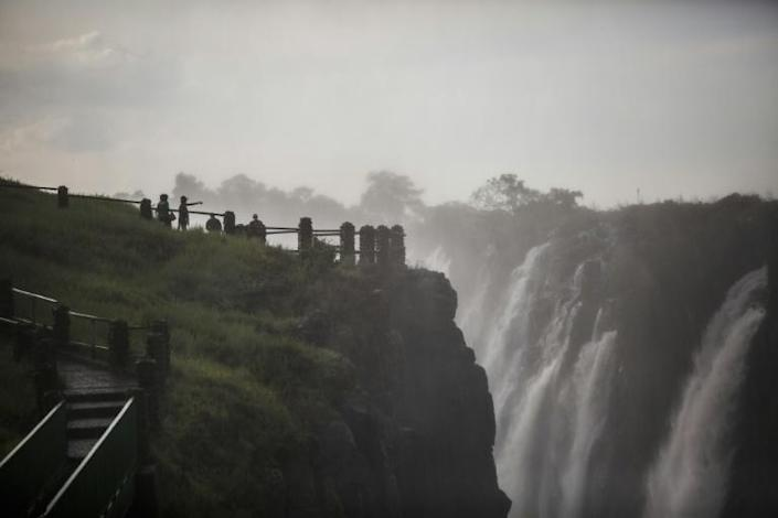 The Victoria Falls, pictured on January 23. A viral video last year that appeared to show that the falls had shrunk to a trickle was a distorsion of the truth say locals -- they have been badly hit by a slump in tourist numbers (AFP Photo/Guillem Sartorio)
