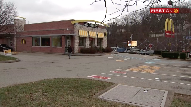 The McDonald's in West Liberty Avenue, Pittsburgh where the employee was photographed. Source: WPXI