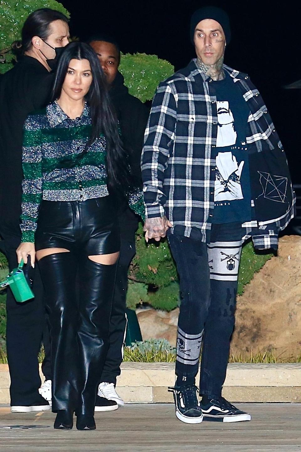 <p>Kourtney Kardashian and Travis Barker had a second consecutive date night at Nobu in Malibu, California.</p>