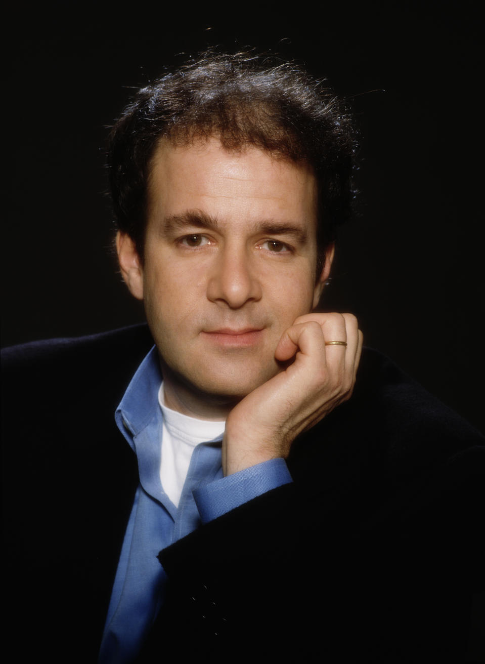 American writer Bruce Feirstein, screenwriter and co-writer on the James Bond films 'The World Is Not Enough', 'Tomorrow Never Dies' and 'GoldenEye', circa 1997. (Photo by Keith Hamshere/Getty Images)