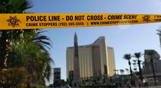 Paddock holed himself up in a room in the Mandalay Bay hotel to carry out his attack. Source: PA via Yahoo UK