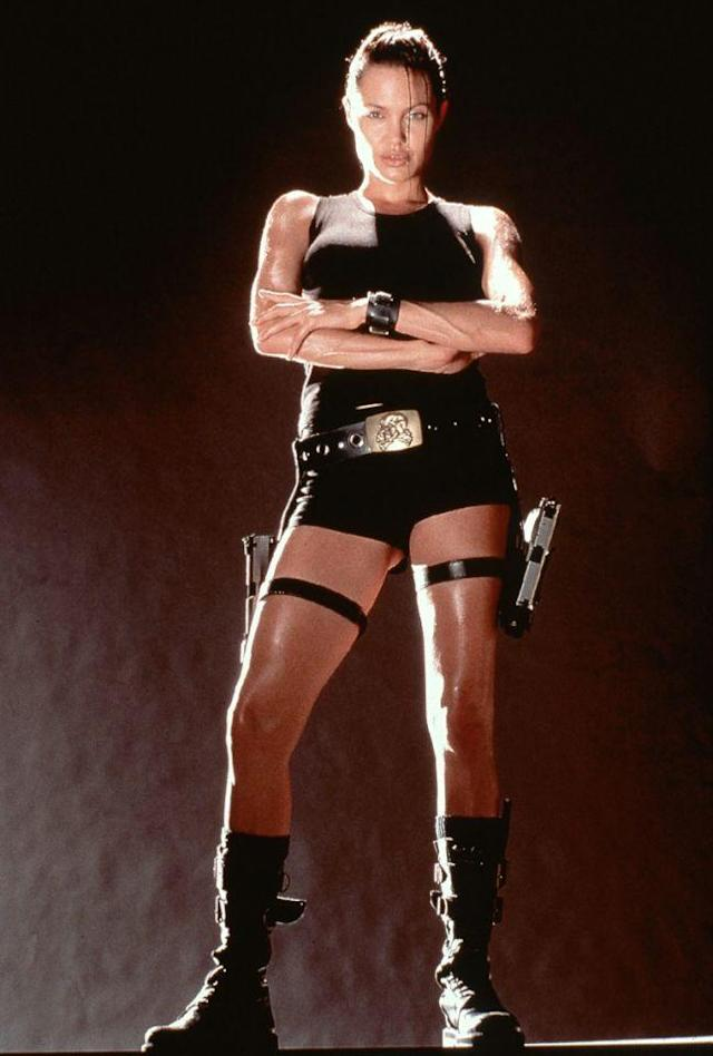 Angelina Jolie and her short-shorts starred in 2001's  <i>Lara Croft: Tomb Raider.</i> (Photo: Everett)