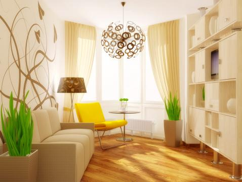 room with relaxing decor