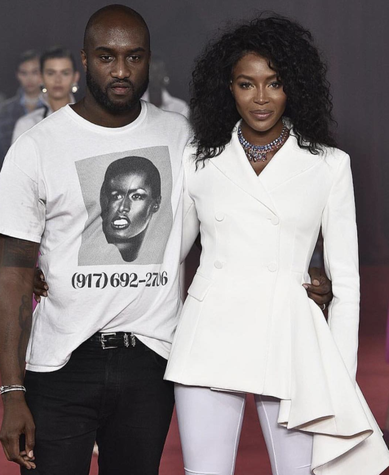 <p>Naomi Campbell closed the Off-White show, which was inspired by Princess Diana. [Photo: Off White/ Instagram] </p>