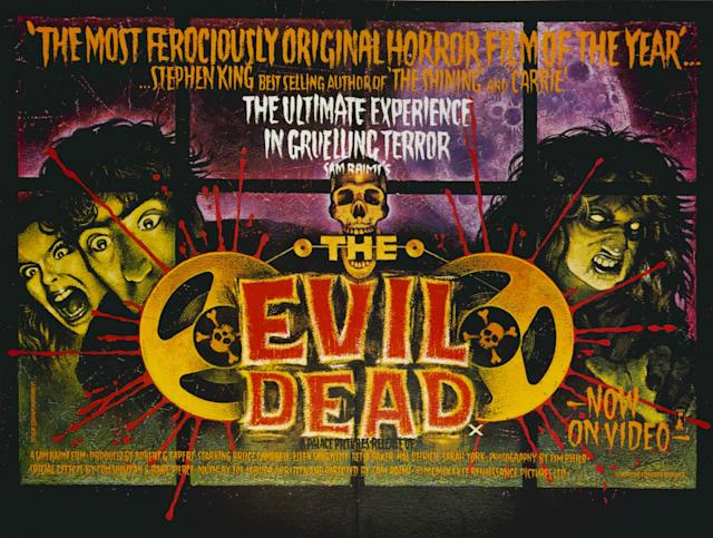 """""""The Evil Dead"""", a 1981 American horror film starring Bruce Campbell, Ellen Sandweiss, Ted Taimi, Betty Baker and Richard DeManincor. (Photo by: Universal History Archive/UIG via Getty images)"""