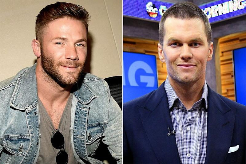 Julian Edelman and Tom Brady | Kevin Mazur/KCASports2017/WireImage; Lorenzo Bevilaqua/Walt Disney Television/Getty