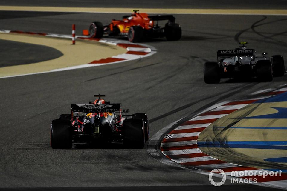 "Charles Leclerc, Ferrari SF1000, Kevin Magnussen, Haas VF-20, Max Verstappen, Red Bull Racing RB16<span class=""copyright"">Mark Sutton / Motorsport Images</span>"