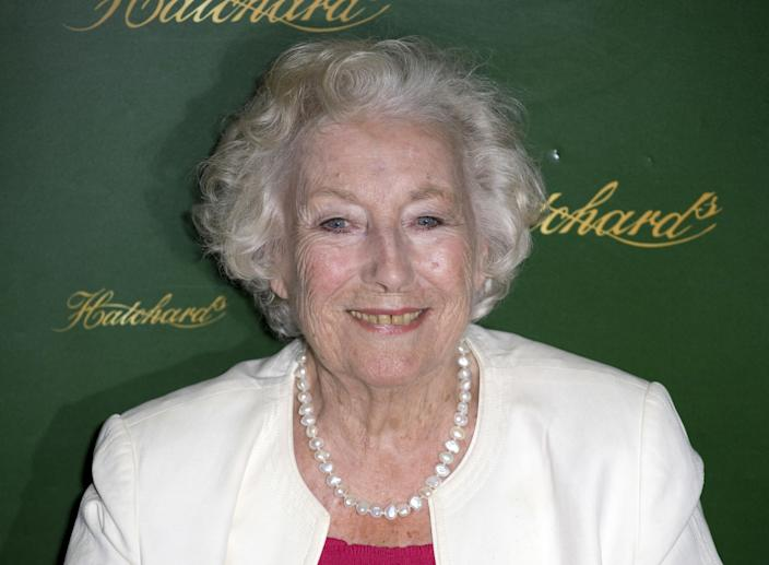 Dame Vera Lynn Signs Copies Of Her New Autobiography, 'Some Sunny Day', Hatchards, Piccadilly, London. (Photo by John Phillips/UK Press via Getty Images)