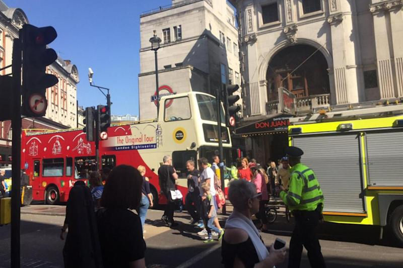 Police: the collision took place in central London near Leicester Square station (@LeaOceaneL)