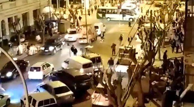People took to the streets for safety in Santiago when the quake struck. Photo: YouTube